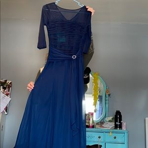 Navy Blue Mother of the Bride Dress